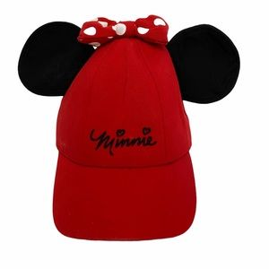 Kids Disney Minnie Mouse cap with ears adjustable